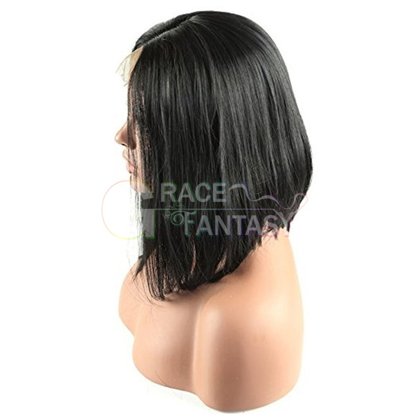 Glueless Short Bob Front Lace Wigs With Bangs For Black Women