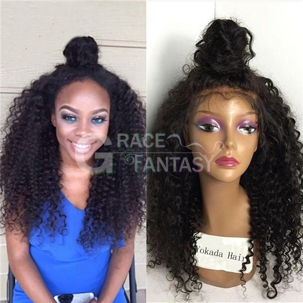 Grace Fantasy Long Glueless Lace Front Synthetic Hair Wigs With Baby Hair Curly Synthetic Wigs For Women Pre Plucked Hairline Bleached Knot