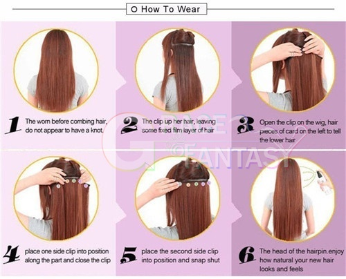 Brazilian Water Wave Clip in Human Hair extensions