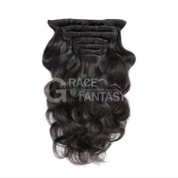 peruvian body wave clip in hair extensions
