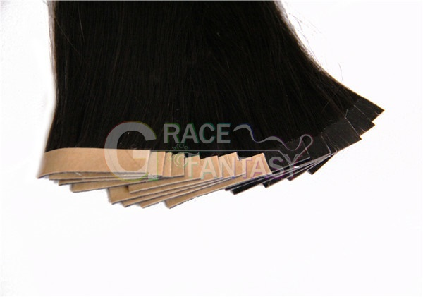 brazilian virgin straight pu skin weft tape in human hair extensions