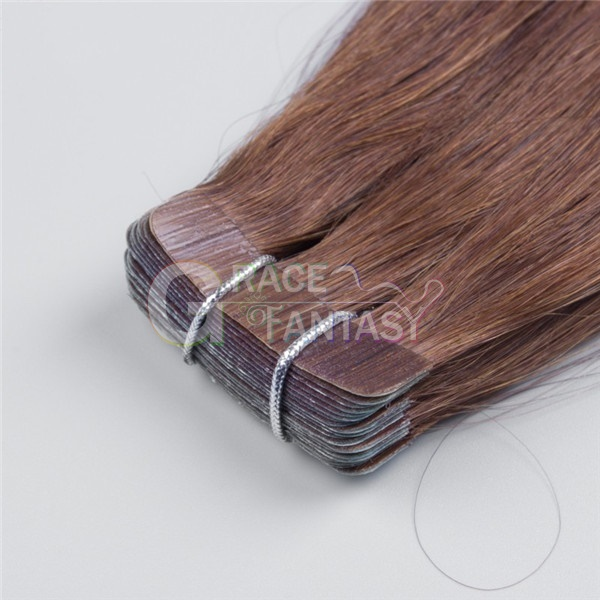 tape extensions brown color