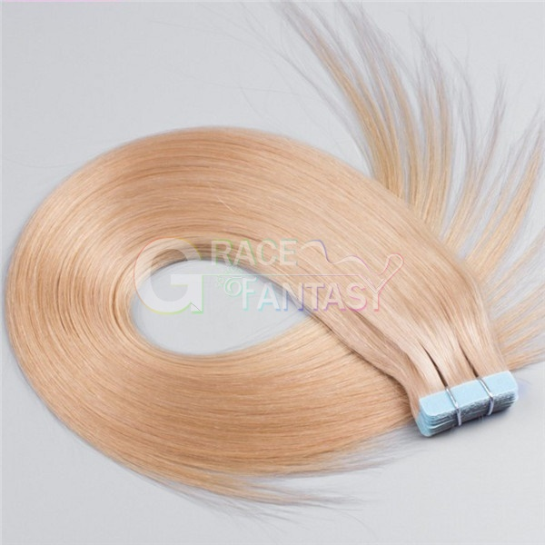 blonde skin weft hair extensions