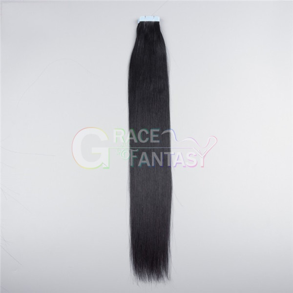 "22"" Black Color Human Virgin Remy Tape In Hair Extensions 20pcs/set Malaysian Hair Straight Tape Hair Extensions"