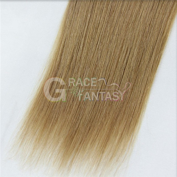blonde straight pre bonded human hair extensions