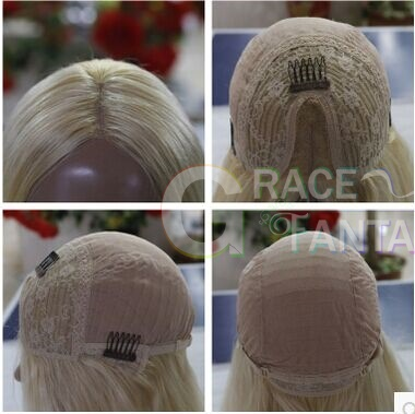 Medium Brown 100%Unprocessed Human Hair yaki straight full lace wigs With Elastic Adjustable Straps and Combs