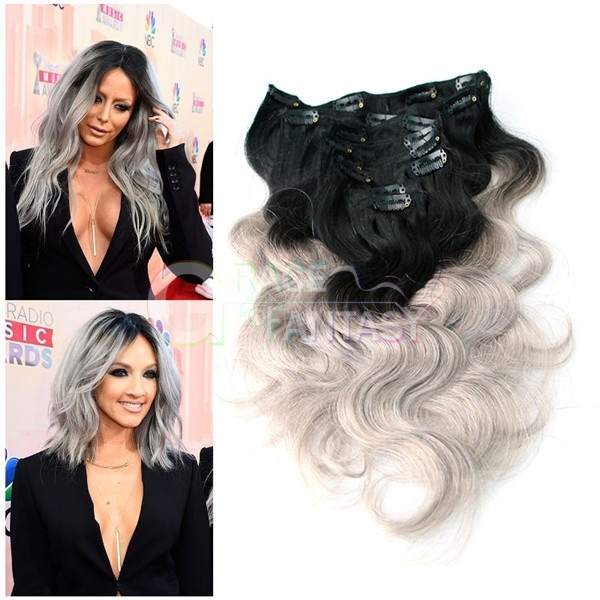 colored hair extensions clips body wave