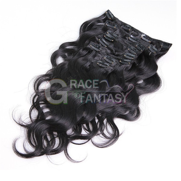 brazilian virgin remy clip hair extensions wet and wavy weave