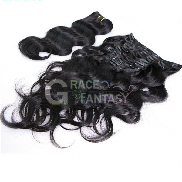 brazilian virgin remy clip hair extensions