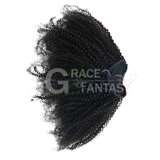 Kinky Curly Ponytails Clip In Human Hair