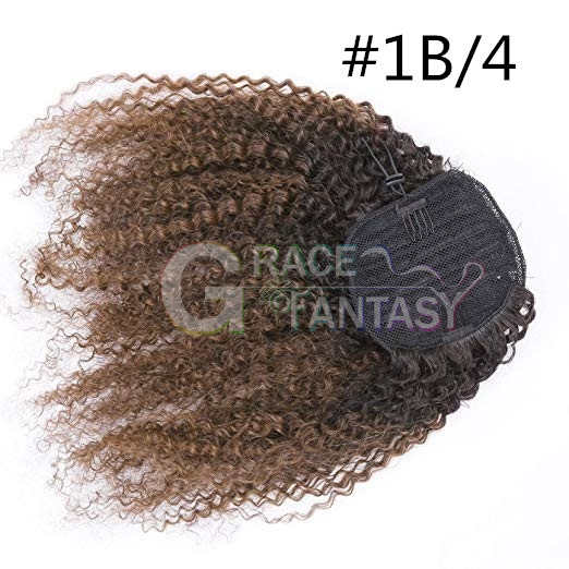 Curly Human Hair Ponytail Hair Extensions