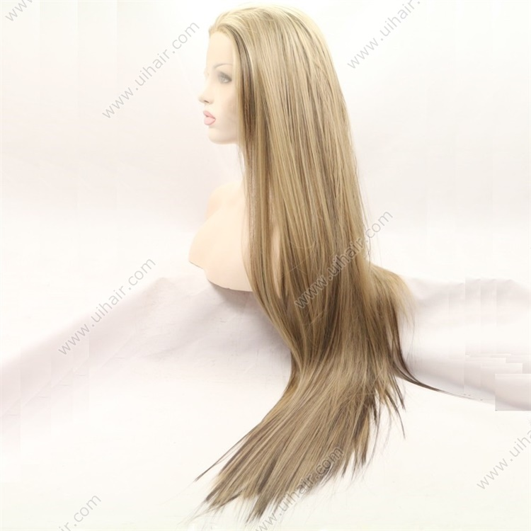 Baby Hair Straight Long Wigs Synthetic