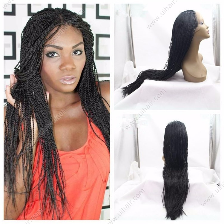 EXPress Braided Lace Front wigs for Black Women Synthetic African American Wigs lace front braided wigs