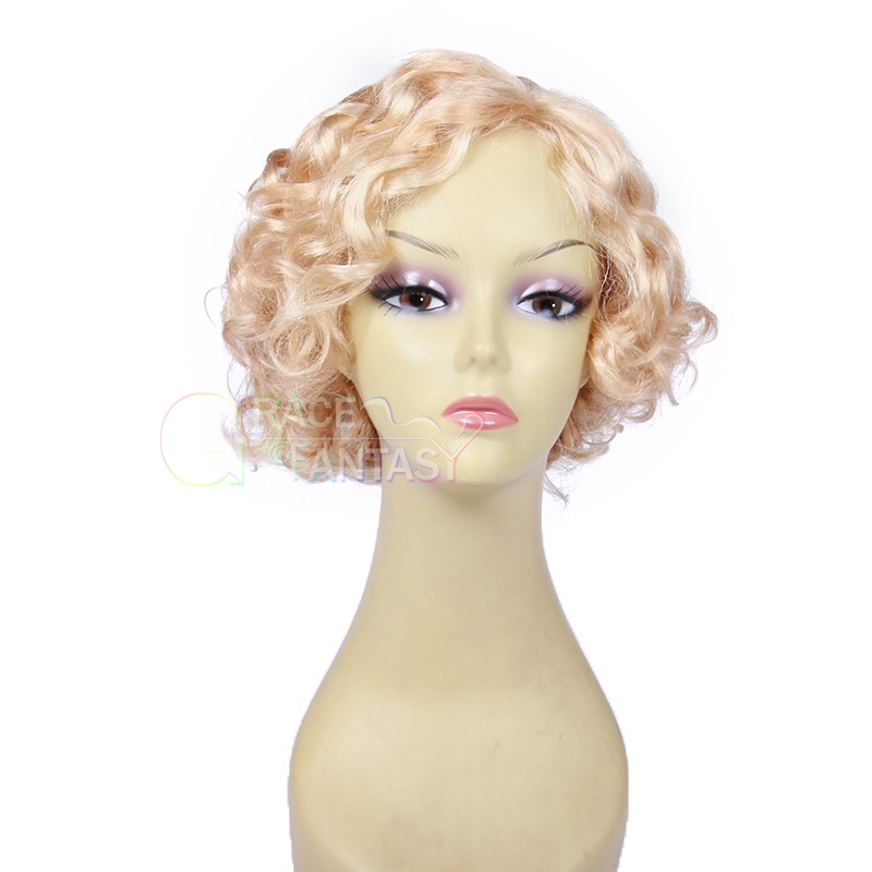 Grace Fantasy Short Bob Wigs Lace Front Human Hair Glueless Wig Pre Plucked Bob Cut Curly Lace Front Wig For Black Women