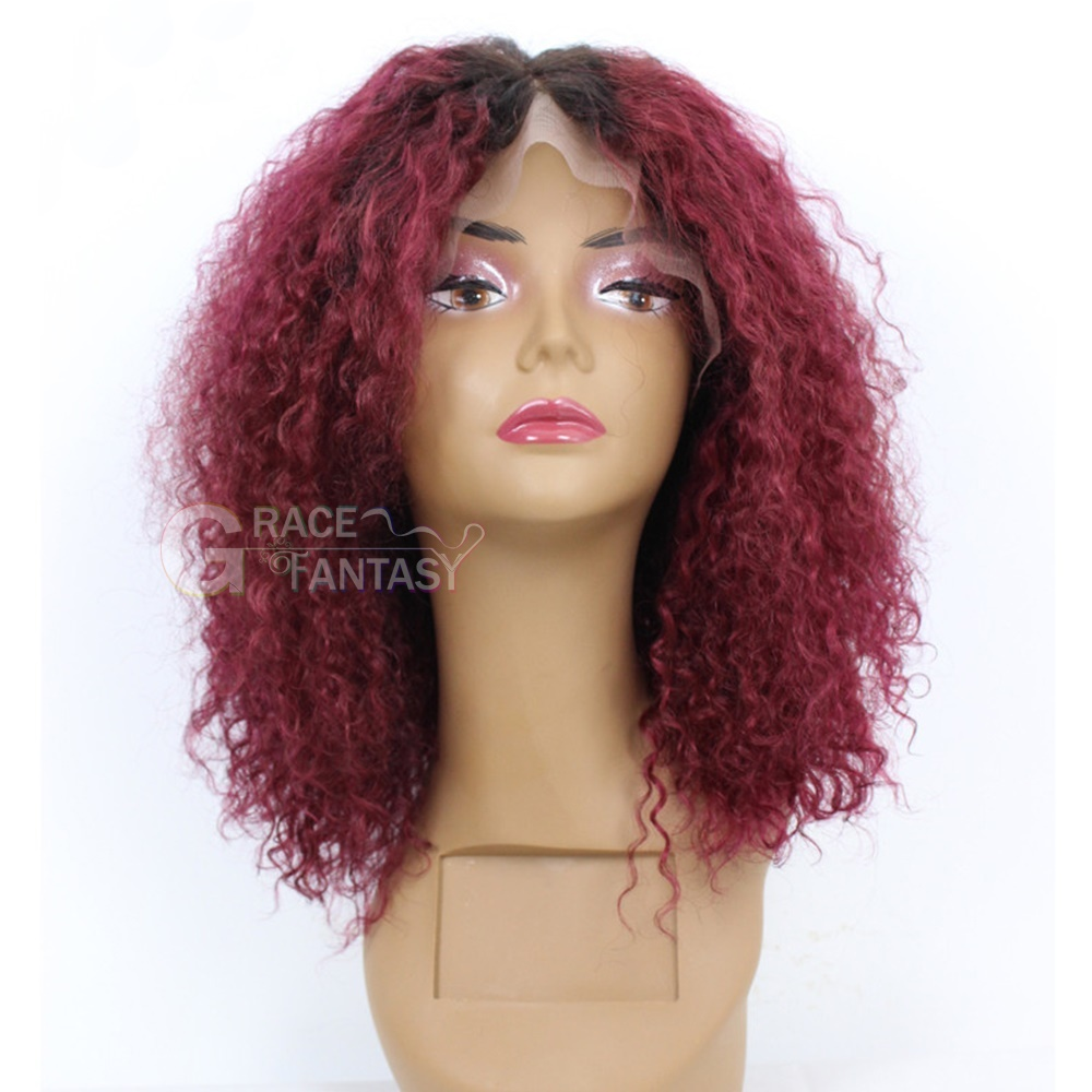 Heat Resistant Human Hair Hairstyle Short Lace Front Wig
