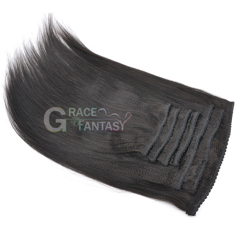 clip in hair extensions natural black yaki straight clip on hair extensions 8-22 inch