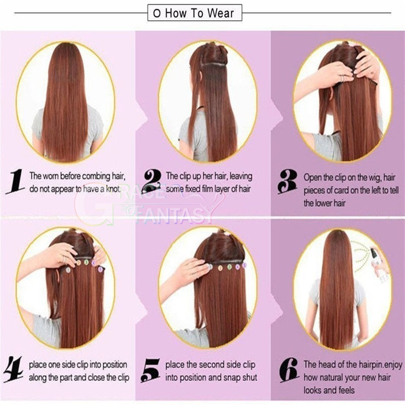 hair extensions 8-22 inch 120g/set for women daily wear free shipping